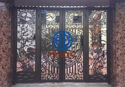 Cổng cửa sắt vạn sự như ý