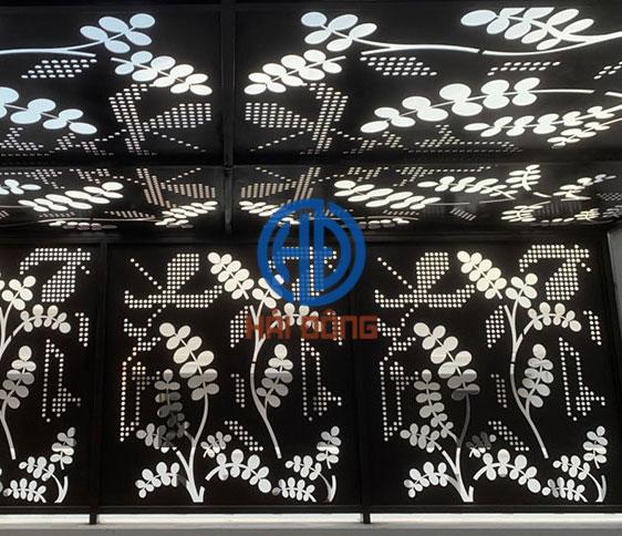 Hoa văn giếng trời CNC đẹp